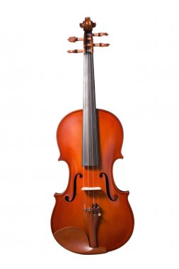 Violin isolated on white background. with clipping path