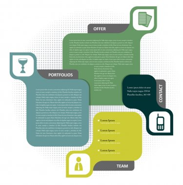 Concept design for brochure or website