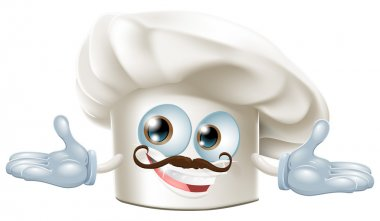 Cute chef hat mascot