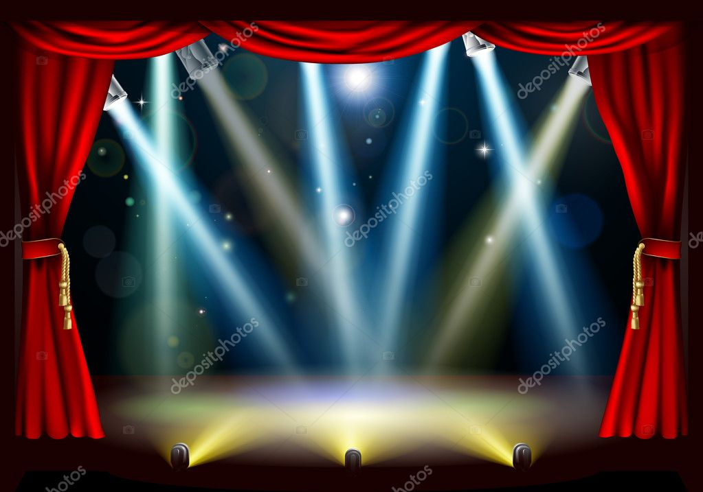 Spotlight theatre stage