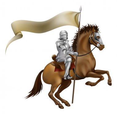 Knight with spear and banner