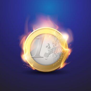 yanan euro kriz - finansal kavramı - euro