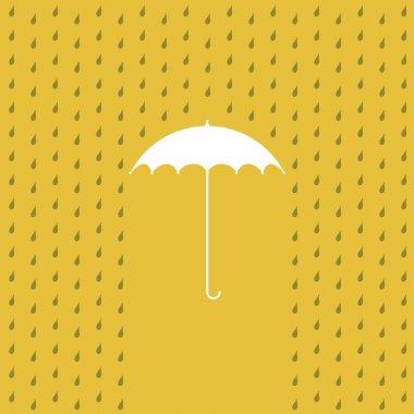 Raining on a umbrella