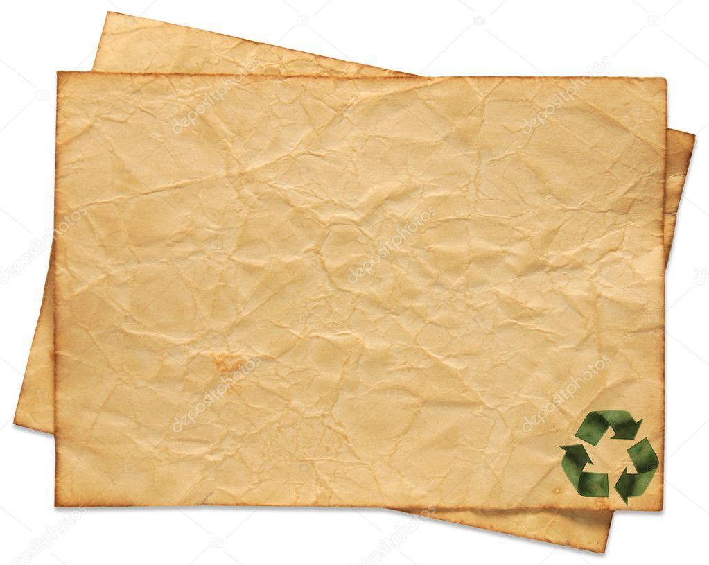 Resultado de imagem para papel reciclado