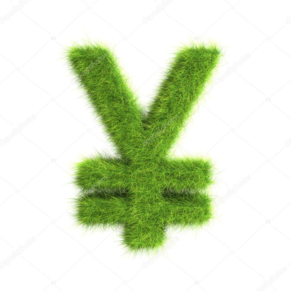 Grass Yen sign