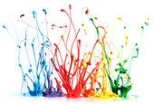 barevné malování stříkající izolované na bílém