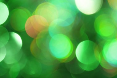 Abstract green light