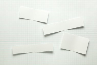 Blank pieces of paper stock vector
