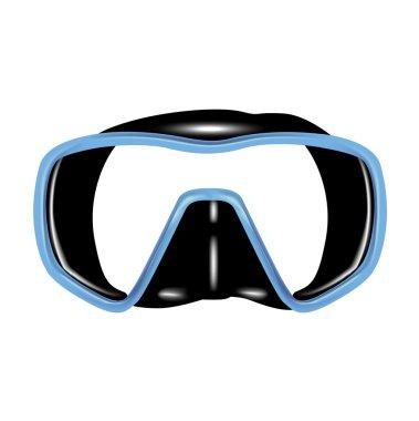 Single scuba diving mask