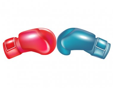 Two boxing gloves facing
