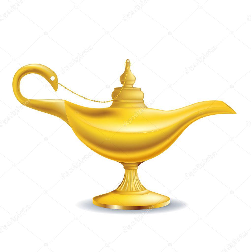 Golden Magic Lamp U2014 Stock Vector