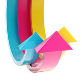 Abstract bend arrow copyspace background