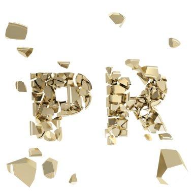 Broken PR metaphor, smashed word explosion