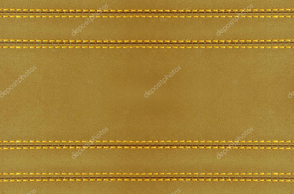 Golden Leather Wallpaper Stock Photo
