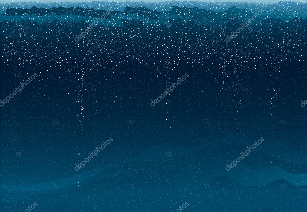 Blue deep sea