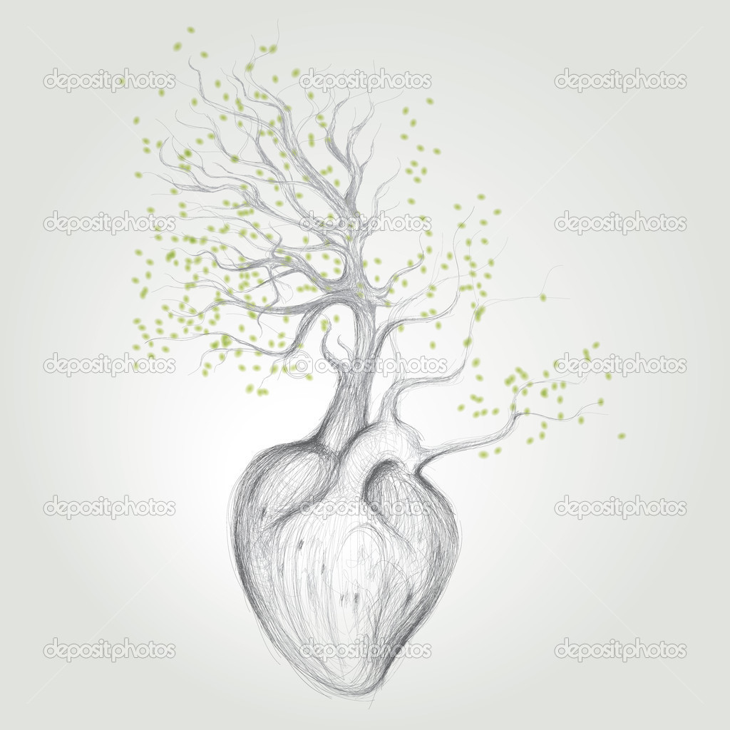 Tree with roots like heart