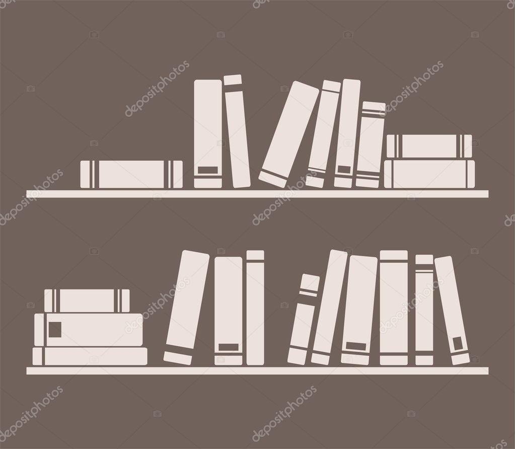 Innenarchitektur Bücher bücher über die regal innenarchitektur vintage vektor illustration