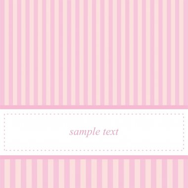 Vector wedding card or baby shower party invitation in sweet pink