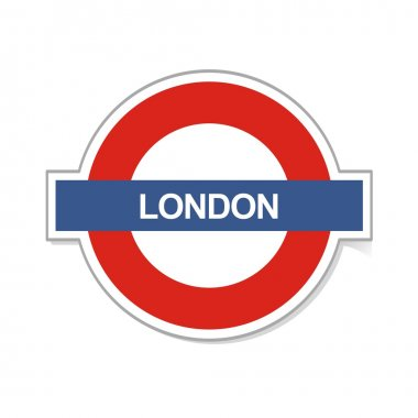 London sign in underground symbol
