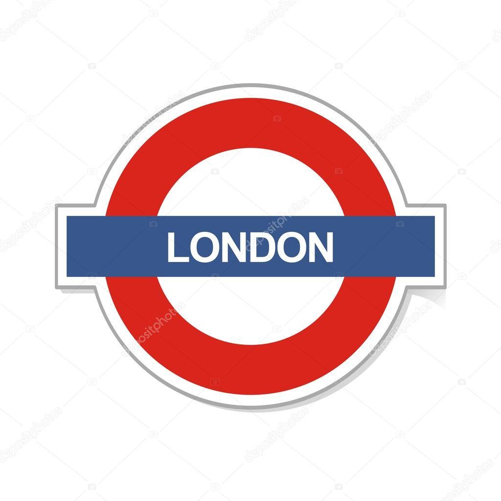 London Sign In Underground Symbol Stock Vector Mala ma