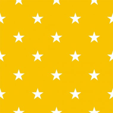 Stars on yellow background retro seamless vector pattern
