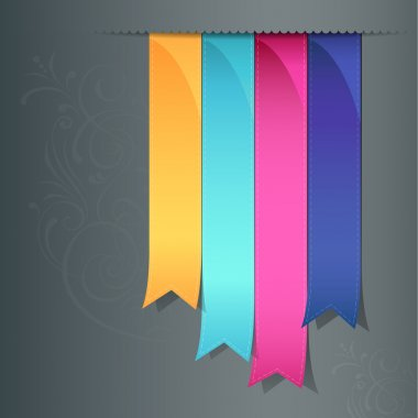 Colorful ribbon promotional products design
