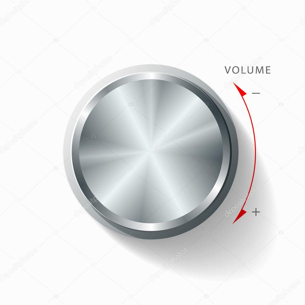 Volume knob background — Stock Vector © Sarunyu_foto #11560947