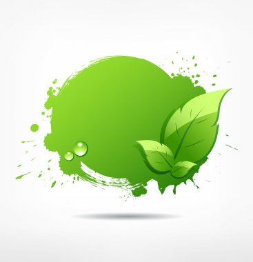 Green leaf concept ecology background