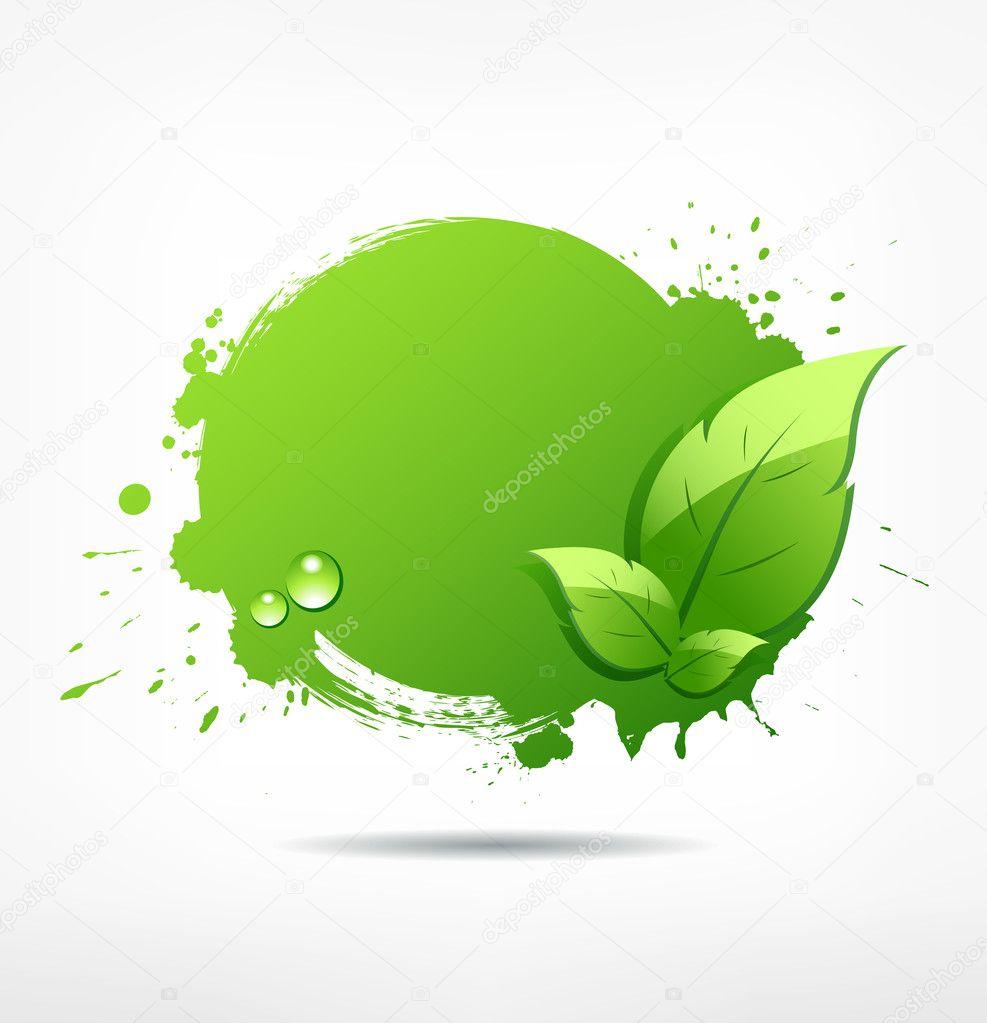 Green leaf concept ecology background