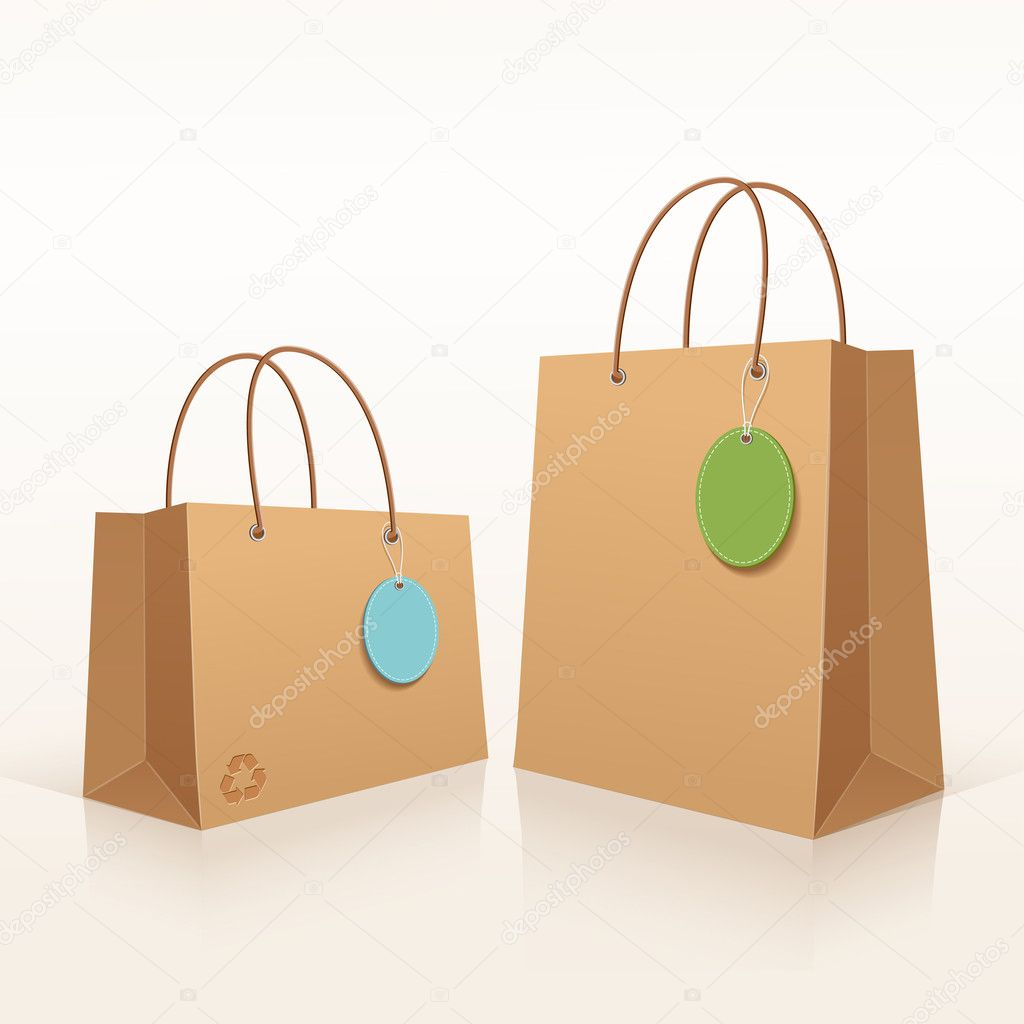Recycle shopping brown bag.
