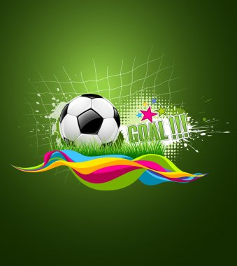 Football artistic background design