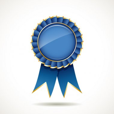 Blue and gold ribbons award