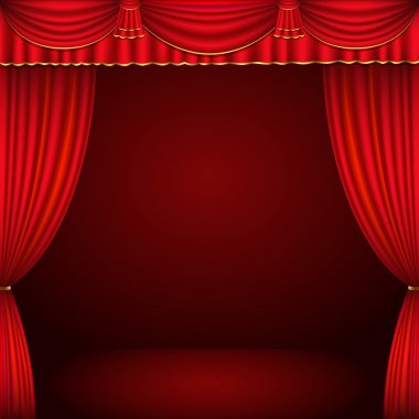 Red and gold theater curtain classic background