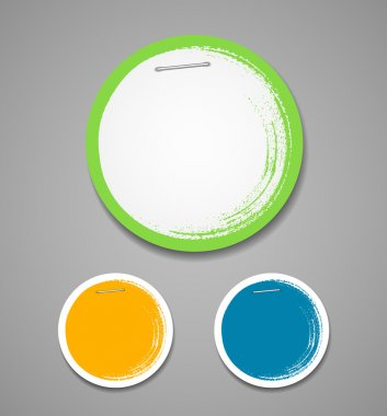 Colorful label paper painting brush stroke background