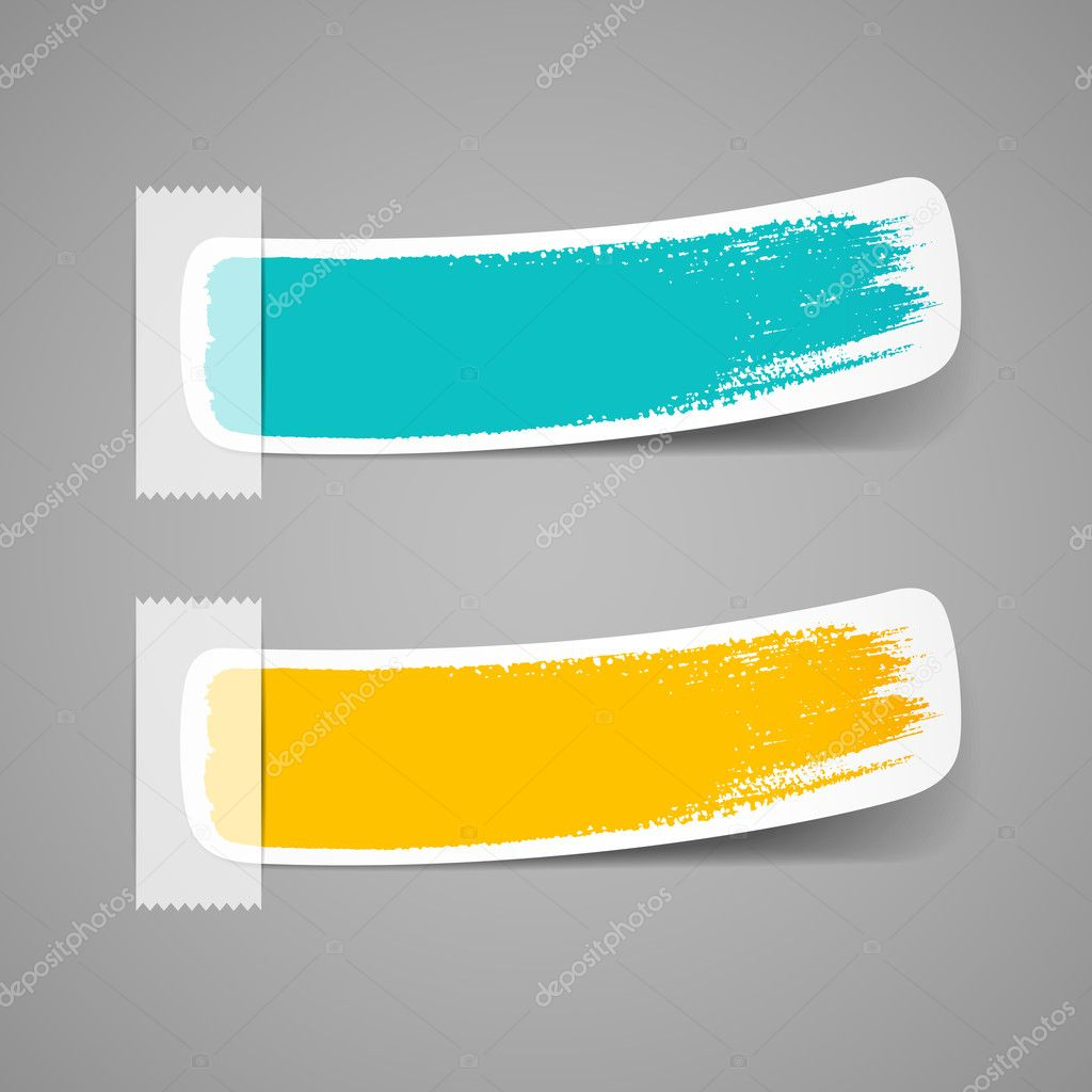 Colorful label brush stroke background