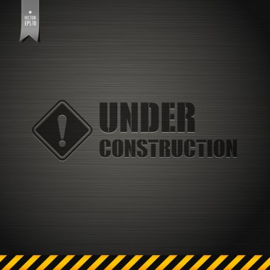 Under construction template design background