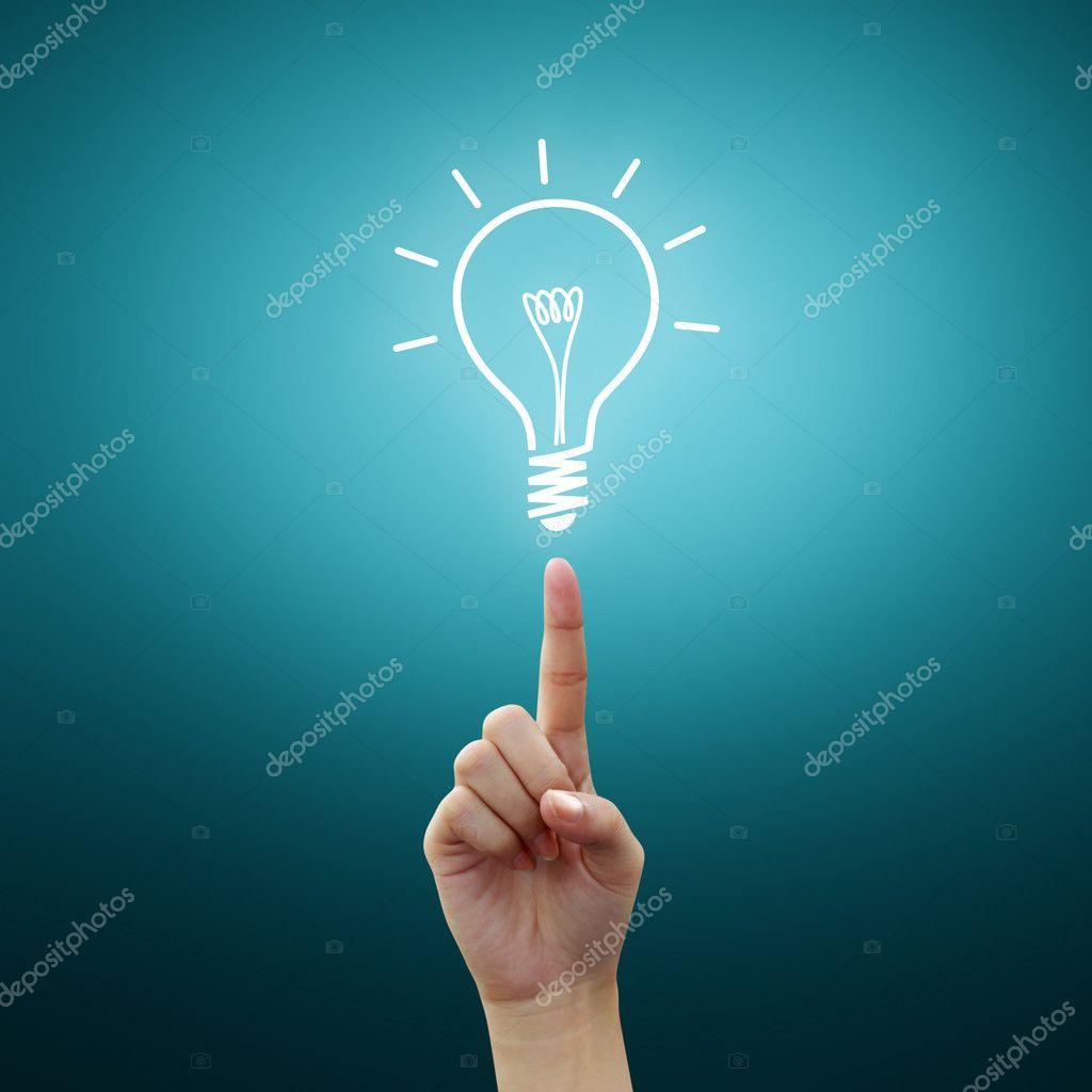 Bulb light on women