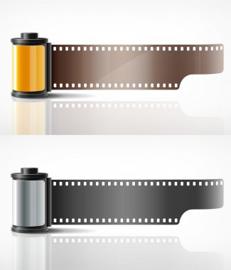 Camera film yellow and silver roll