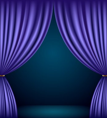 Violet theater curtain background