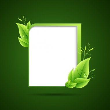 Frame green leaf ecology concepts background