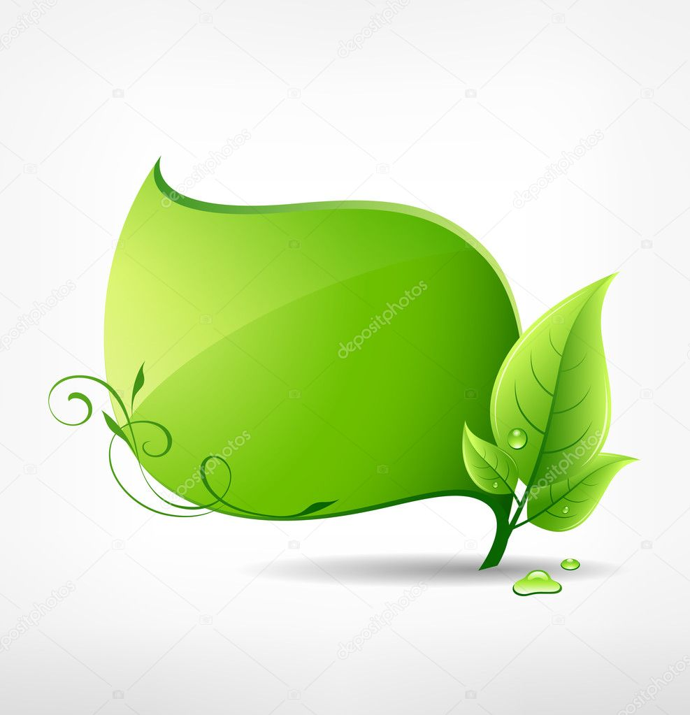 Green leaf concept ecology design