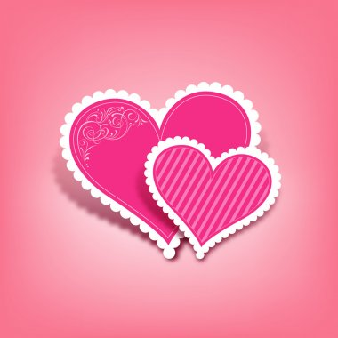 Pink heart paper classic valentine's day