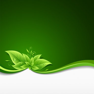 """Картина, постер, плакат, фотообои """"экология зелёных листьев """", артикул 11973665"""
