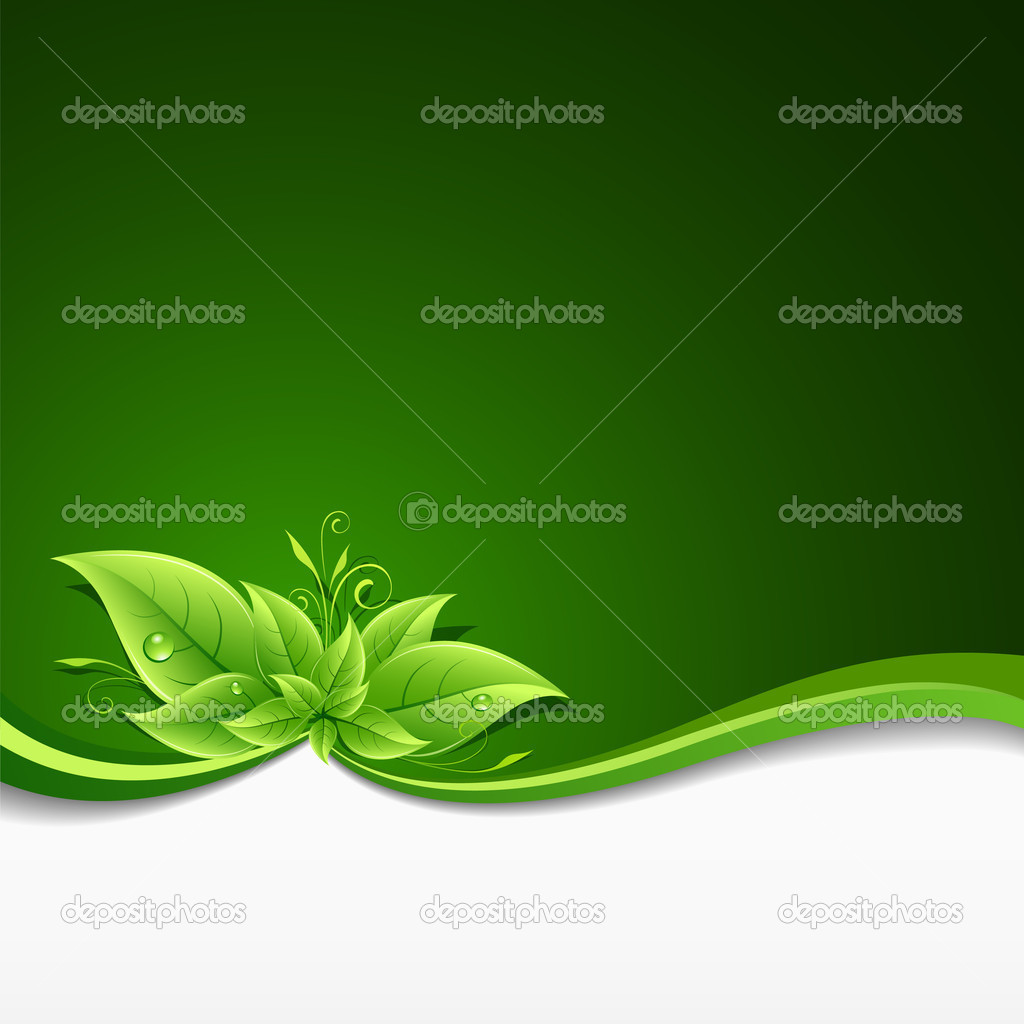 Green leaf ecology concept background