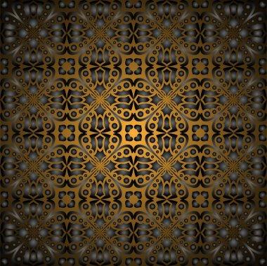 Gorgeous black gold seamless pattern