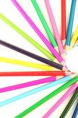 színes ceruzák elszigetelt fehér