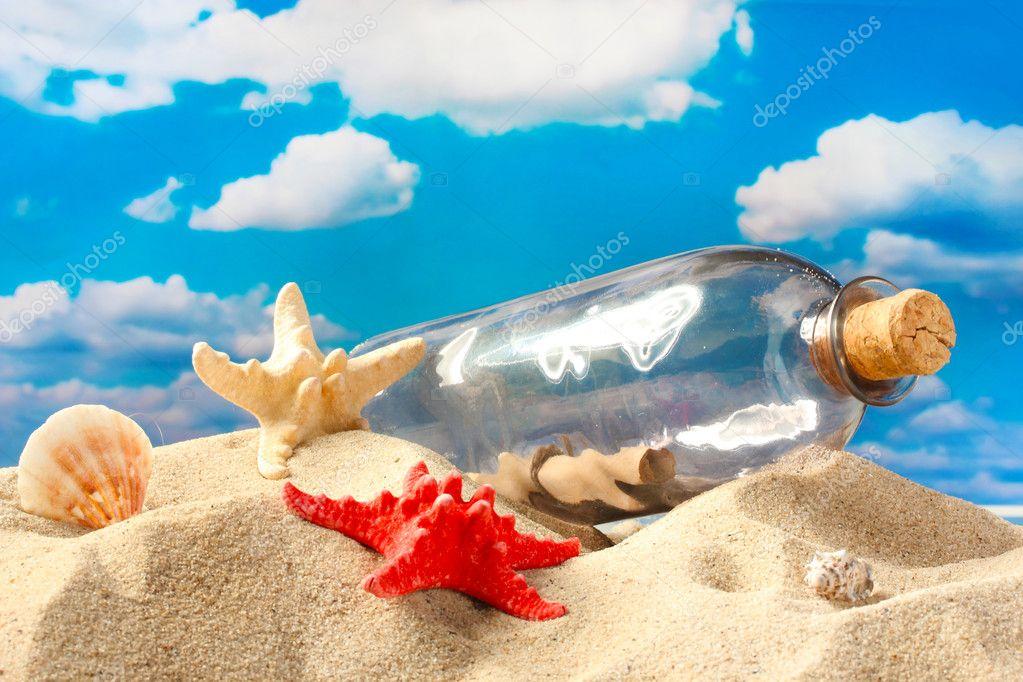 Поздравление бутылка с песком