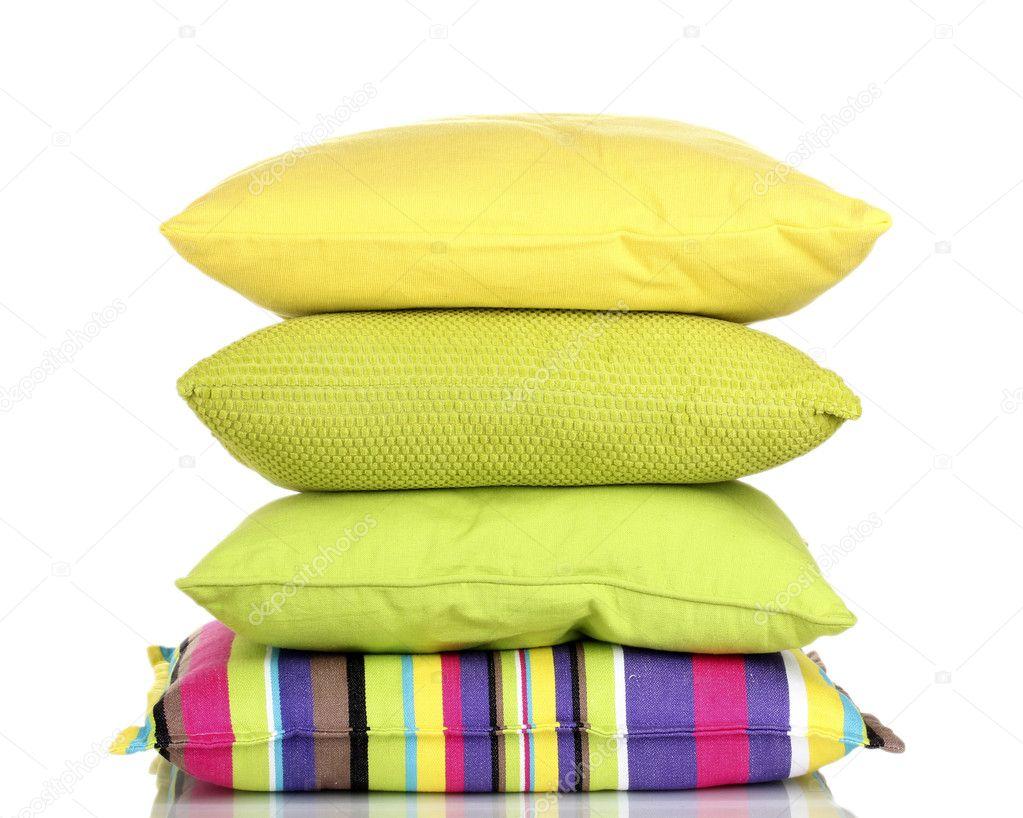 Kussen Wit 12 : Heldere kleur kussens geïsoleerd op wit u2014 stockfoto © belchonock