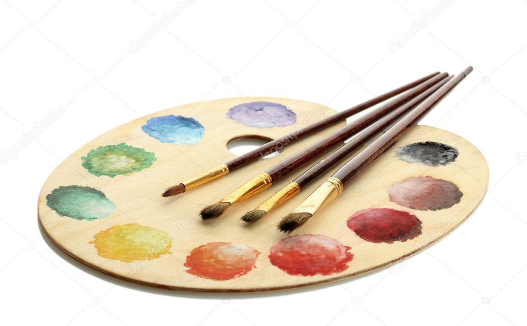 Výsledek obrázku pro štětec a barvy