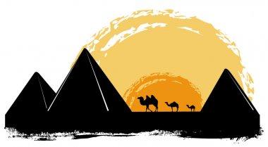 Pyramid silhouette